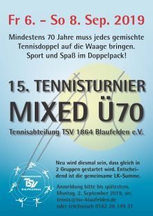 Mixed-Turnier Ü70 2019
