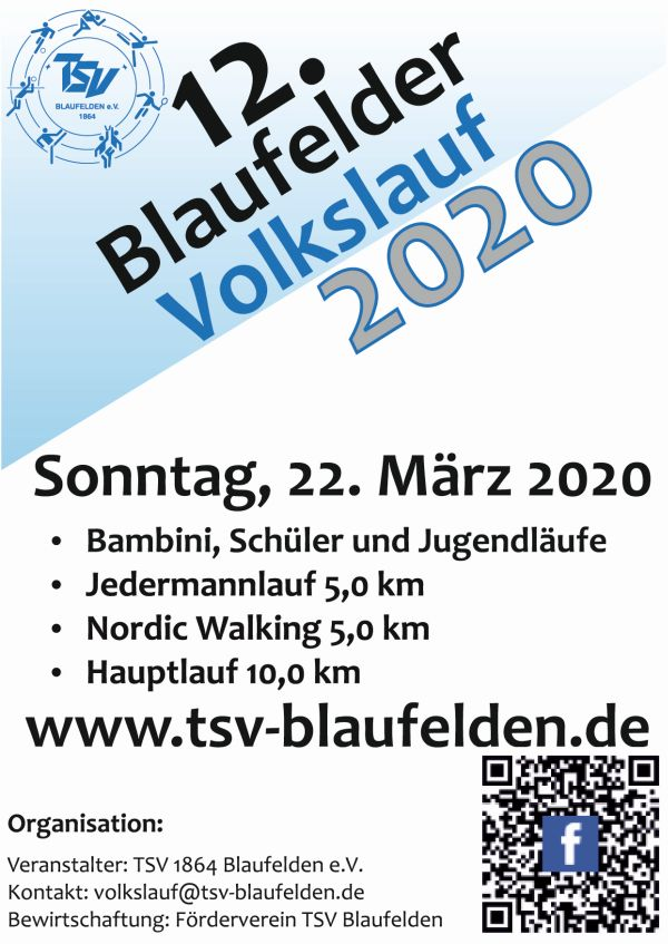 Save The Date - Volkslauf 2020